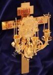 Paschal three-candle holder Cross 4