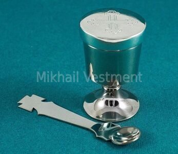 little chalice with screw cap to bring Holy Communion to the sick